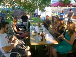 2015-06-30 Probe unterm' Nussbaum